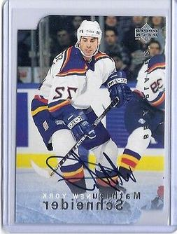 1995-96 UPPER DECK BE A PLAYER MATHIEU SCHNEIDER DIE CUT AUT