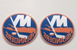 2x New York Islanders Car Bumper Laptop Wall Vinyl Die Cut S