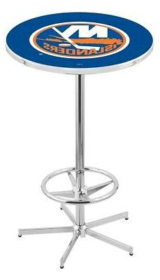 "Holland Bar Stool Co. L216 - 42"" Chrome New York Islanders P"