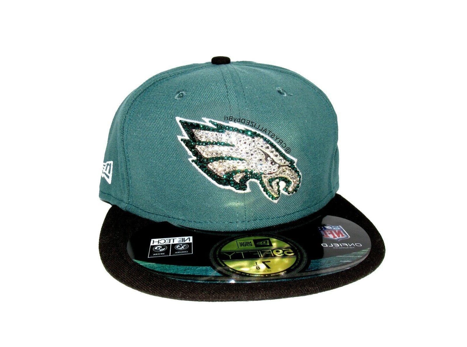 NFL CRYSTALLIZED Hat Snapback Baseball Cap w/Swarovski Cryst