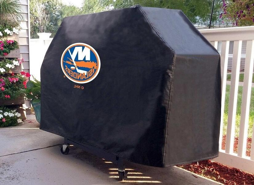 new york islanders bbq grill cover on