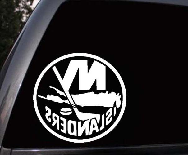 new york islanders car window truck laptop