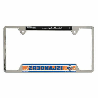 new york islanders metal license plate frame