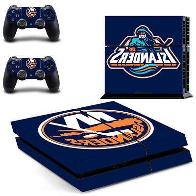 New York Islanders PS4 Skin Sticker Decal Vinyl Console+2 co