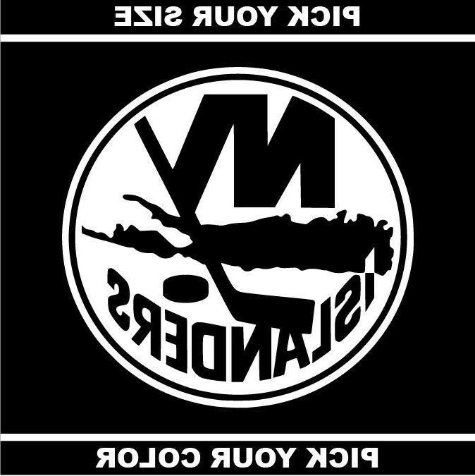 new york islanders vinyl sticker decal nhl