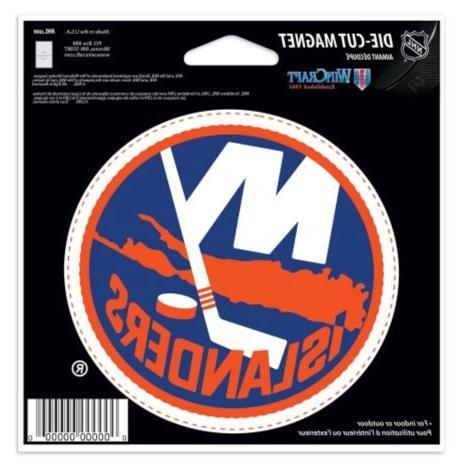 NHL New Islanders Color 4.5 6 Die Cut