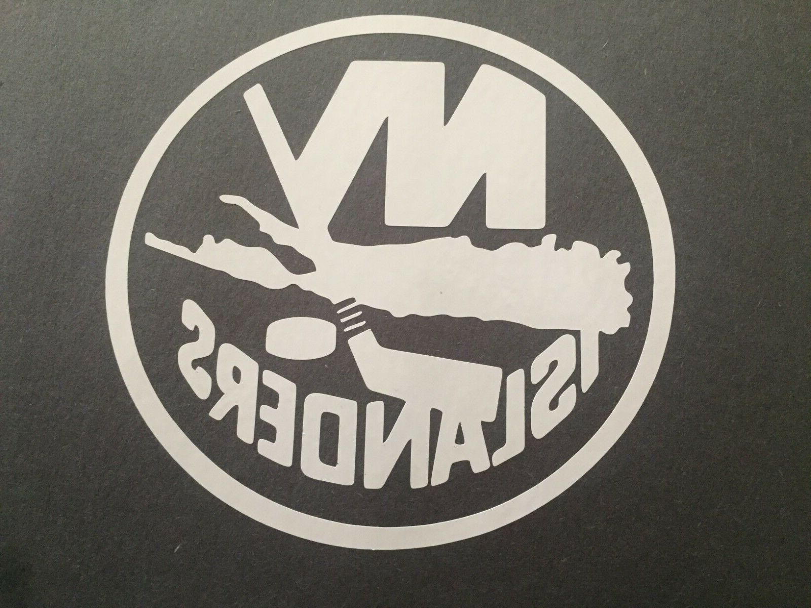 nhl new york islanders white vinyl sticker