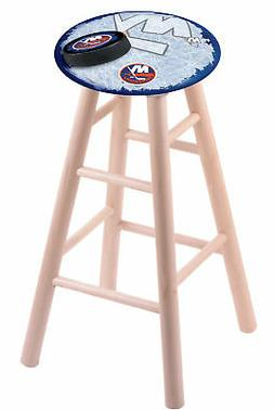 Maple Bar Stool in Natural Finish with New York Islanders Se