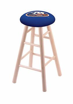 Maple Vanity Stool in Natural Finish with New York Islanders