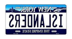 Metal Vanity License Plate Tag Cover - New York Islanders -