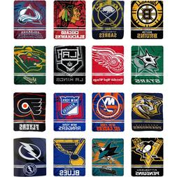 "New Northwest NHL Large Soft Fleece Throw Blanket 50"""" X 60"""