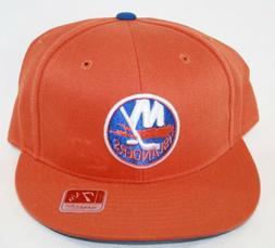 NEW NY Islanders MITCHELL & NESS NHL Hockey Logo Orange Fitt