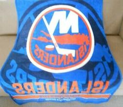 New Plush New York Islanders Throw SOFT GIFT Blanket Hockey