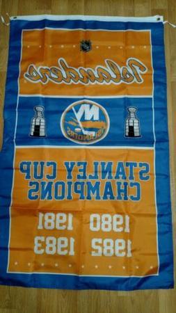 New York Islanders 3x5 Stanley Cup Champions Flag. Free ship