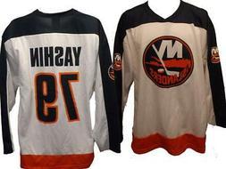 New York Islanders #79 Alexei Yashin #79 Mens Sizes L-XL Whi