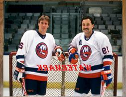 New York Islanders Bryan Trottier & Mike Bossy Color 8 X 10