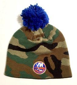 New York Islanders Reebok Camo Camouflage Pom Ball Top Knit