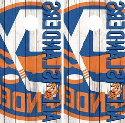 New York Islanders Cornhole Wrap NHL Fans Game Board Skin Se