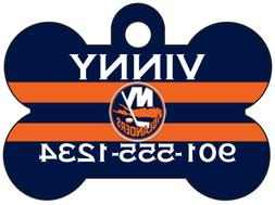 New York Islanders Custom Pet Id Dog Tag Personalized w/ Nam