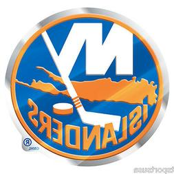 New York Islanders Emblem Sticker Raised 3D Metal Auto Emble