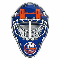 New York Islanders Hockey Mask Color Bling Emblem