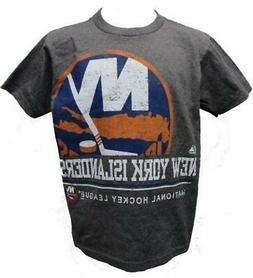 New York Islanders Hockey Youth Sizes S-M-L-XL Grey Shirt