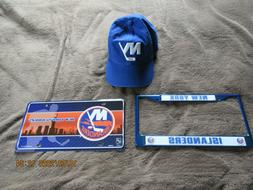 New York Islanders License Plate & Frame and 47 Brand Hat