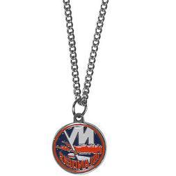 "new york islanders licensed nhl hockey charm necklace 22"" ch"