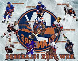 New York Islanders Lithograph print of all time greats 11 x