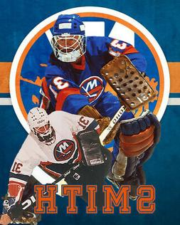 New York Islanders Lithograph print of Billy Smith 2020