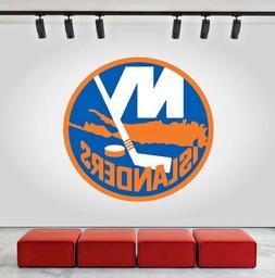 New York Islanders Logo Wall Decal Ice Hockey Sports Vinyl S