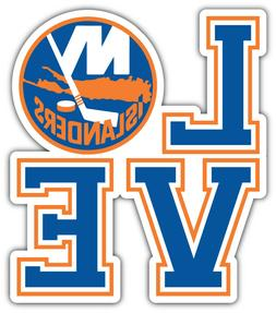 New York Islanders Love NHL Sport Car Bumper Sticker Decal -