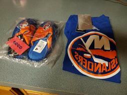 new york islanders men's shirt and kid's slippers..