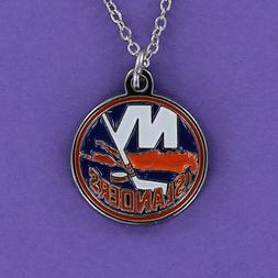 New York Islanders Necklace - Pewter Charm on Chain Pro NHL