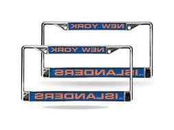 New York Islanders NHL Chrome Metal  Laser License Plate Fra