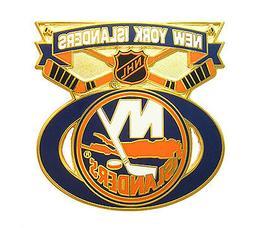 New York Islanders NHL Face Off Logo Pin