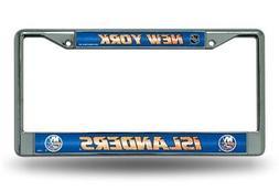 New York Islanders NHL Glitter Bling Chrome License Plate Fr