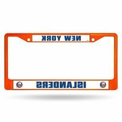 New York Islanders NHL Orange Painted Chrome Metal License P
