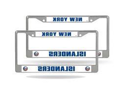 New York Islanders NHL  Chrome Metal License Plate Frames