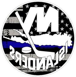 New York Islanders NHL Thin Blue Line Color Die Cut Vinyl De