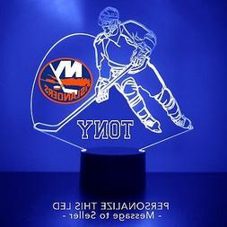 New York Islanders Night Light, Personalized FREE NHL Hockey