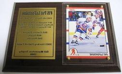 New York Islanders Pat LaFontaine Hockey Card Plaque
