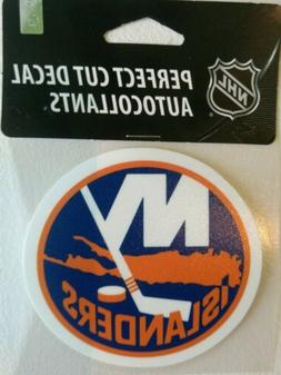 New York Islanders Perfect Cut Decal Licensed NHL 4x4 USA Ma