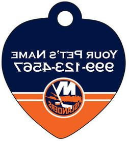 New York Islanders Pet Id Tag for Dogs & Cats Personalized w