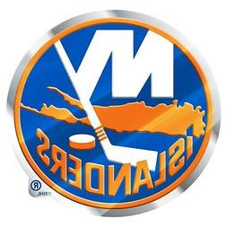 New York Islanders Premium Metal Auto Emblem Chrome Color Al