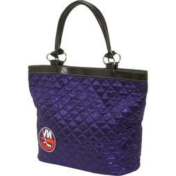 New York Islanders Quilted Tote by Littlearth Navy