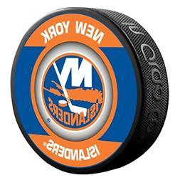 New York Islanders Retro Style Souvenir Hockey Puck By Sher-