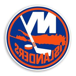 New York Islanders Round  Precision Cut Decal / Sticker