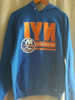 New York Islanders Size XL Blue Hoodie Hooded Sweatshirt NHL