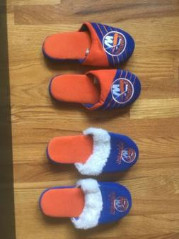 New York Islanders Slippers NHL lot of 2 NEW boys S-M Youth